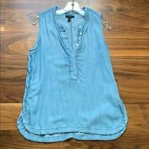 J. Crew Chambray Top, size 4